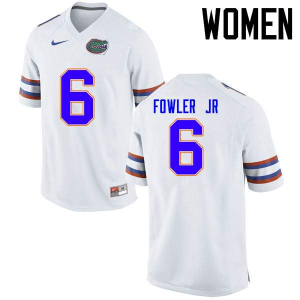 Women's Florida Gators #6 Dante Fowler Jr. White Nike NCAA College Football Jersey XCJ251LJ