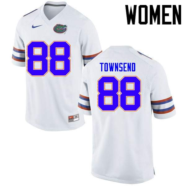 Women's Florida Gators #88 Tommy Townsend White Nike NCAA College Football Jersey OXK716ZJ