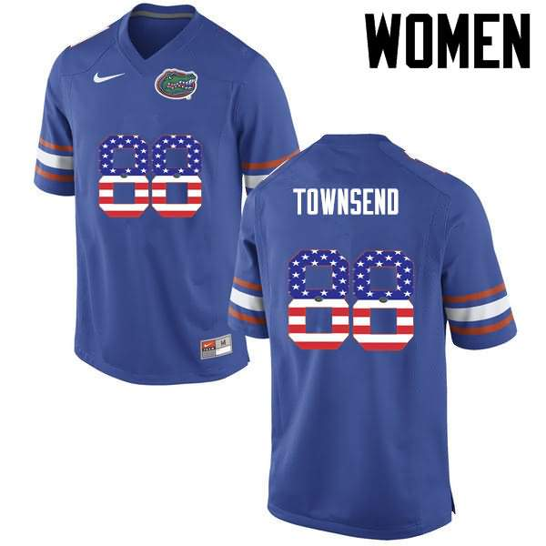 Women's Florida Gators #88 Tommy Townsend USA Flag Fashion Nike NCAA College Football Jersey VGW645DJ