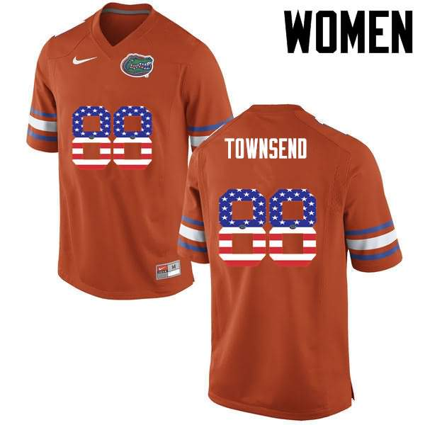 Women's Florida Gators #88 Tommy Townsend USA Flag Fashion Nike NCAA College Football Jersey BXQ645GJ