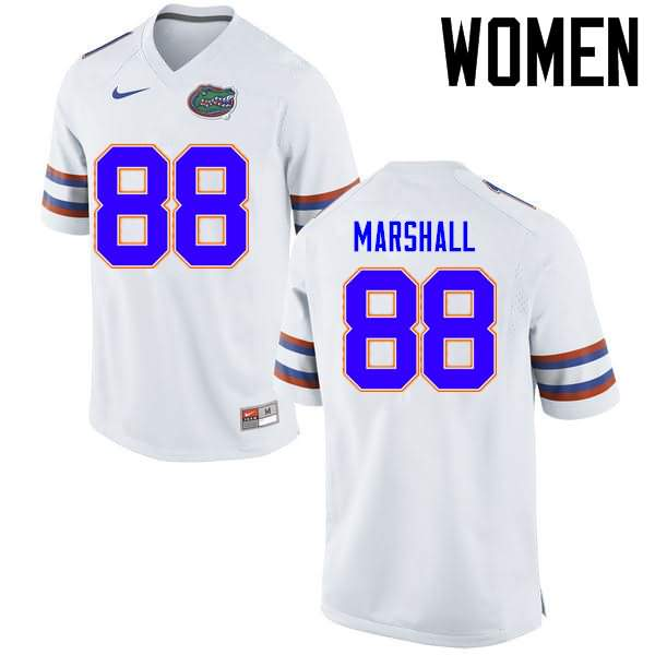 Women's Florida Gators #88 Wilber Marshall White Nike NCAA College Football Jersey KKJ771GJ
