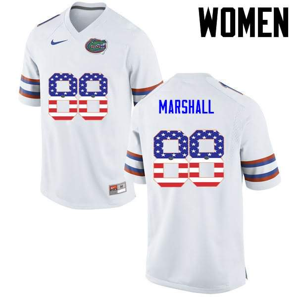 Women's Florida Gators #88 Wilber Marshall USA Flag Fashion Nike NCAA College Football Jersey LMH574CJ