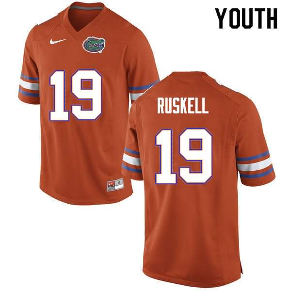 Youth Florida Gators #19 Jack Ruskell Orange Nike NCAA College Football Jersey NOS265WJ