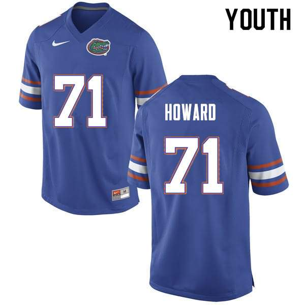 Youth Florida Gators #71 Chris Howard Blue Nike NCAA College Football Jersey BCV724EJ