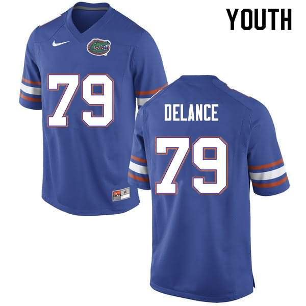 Youth Florida Gators #79 Jean DeLance Blue Nike NCAA College Football Jersey GRM400SJ
