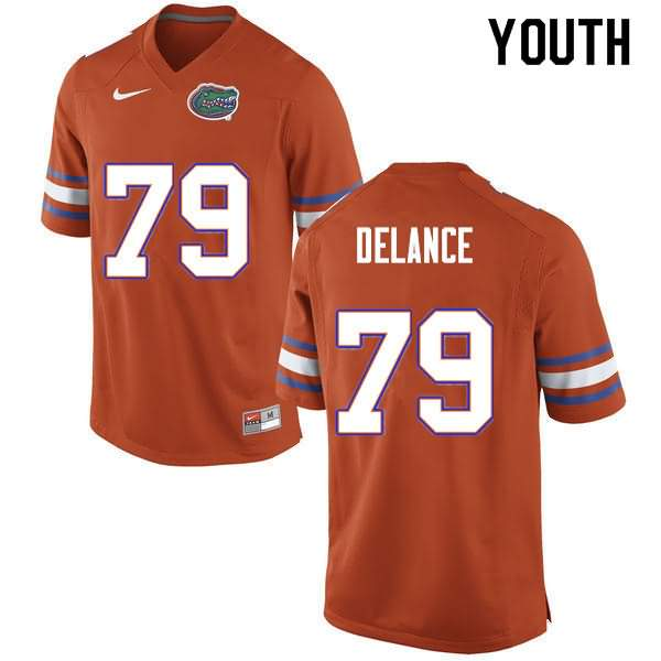 Youth Florida Gators #79 Jean DeLance Orange Nike NCAA College Football Jersey YVT755XJ