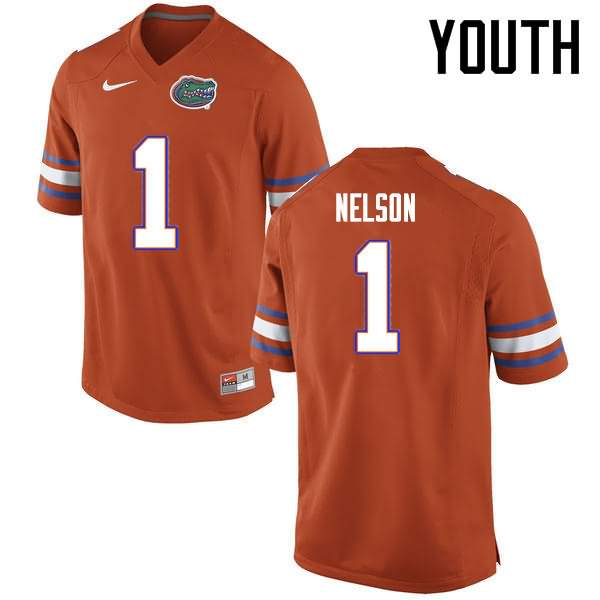 Youth Florida Gators #1 Reggie Nelson Orange Nike NCAA College Football Jersey VPO742LJ