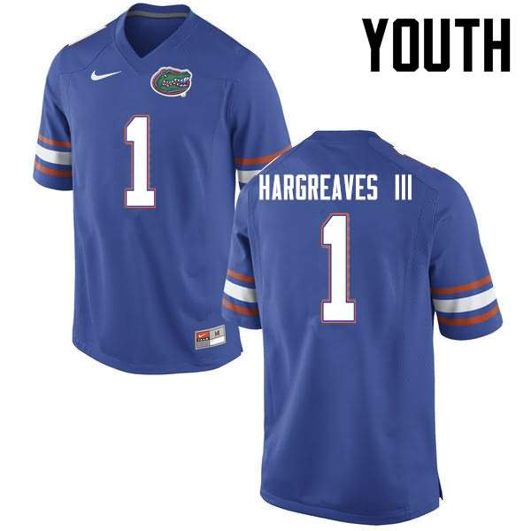 Youth Florida Gators #1 Vernon Hargreaves III Blue Nike NCAA College Football Jersey FGM340PJ