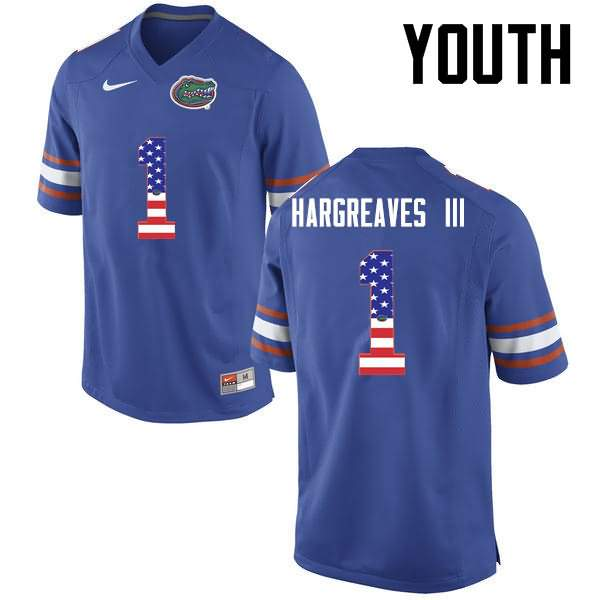 Youth Florida Gators #1 Vernon Hargreaves III USA Flag Fashion Nike NCAA College Football Jersey BFF854EJ