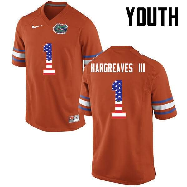 Youth Florida Gators #1 Vernon Hargreaves III USA Flag Fashion Nike NCAA College Football Jersey WVA681DJ