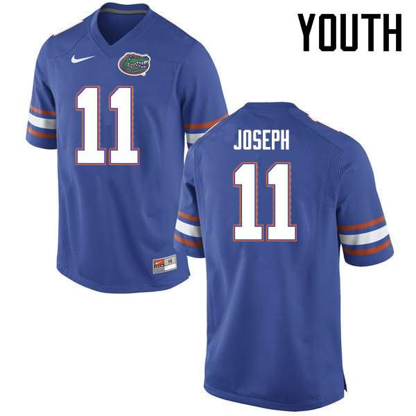 Youth Florida Gators #11 Vosean Joseph Blue Nike NCAA College Football Jersey TSS305NJ