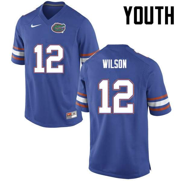 Youth Florida Gators #12 Quincy Wilson Blue Nike NCAA College Football Jersey HDF864TJ