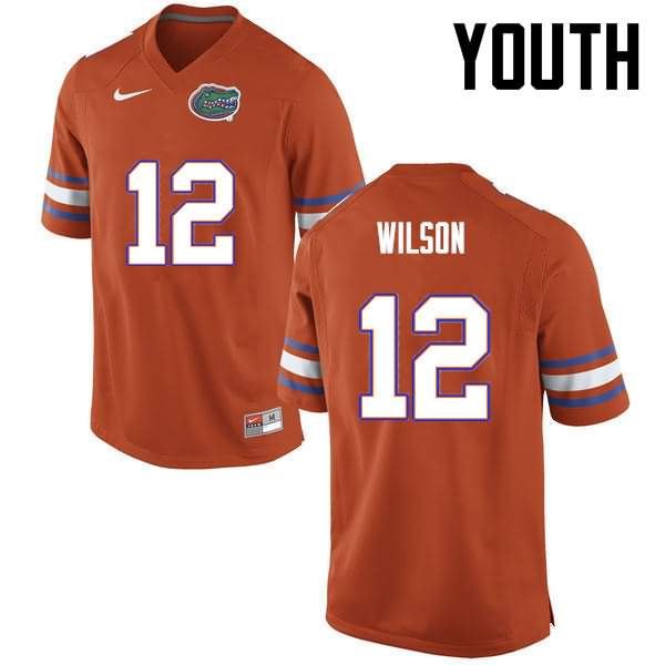 Youth Florida Gators #12 Quincy Wilson Orange Nike NCAA College Football Jersey YZW176DJ
