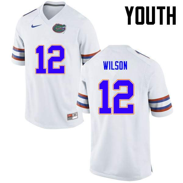 Youth Florida Gators #12 Quincy Wilson White Nike NCAA College Football Jersey XCW766VJ