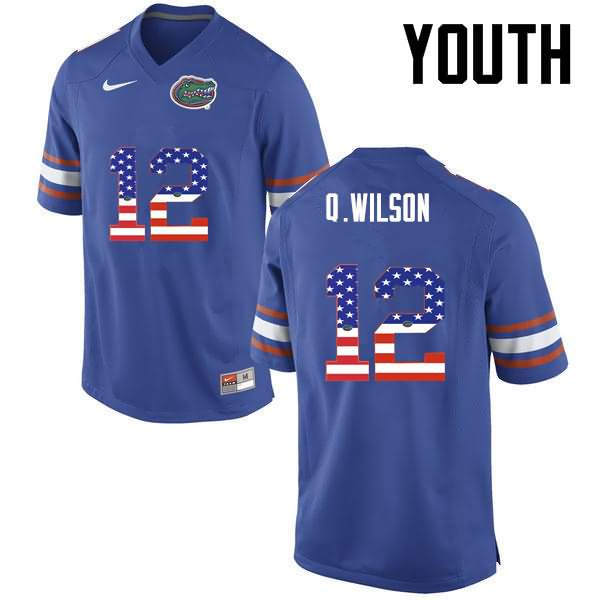 Youth Florida Gators #12 Quincy Wilson USA Flag Fashion Nike NCAA College Football Jersey BTU700VJ