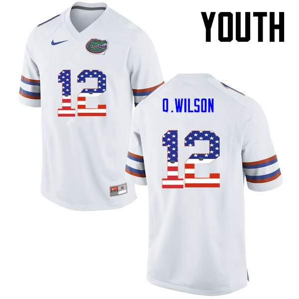 Youth Florida Gators #12 Quincy Wilson USA Flag Fashion Nike NCAA College Football Jersey SSW340AJ