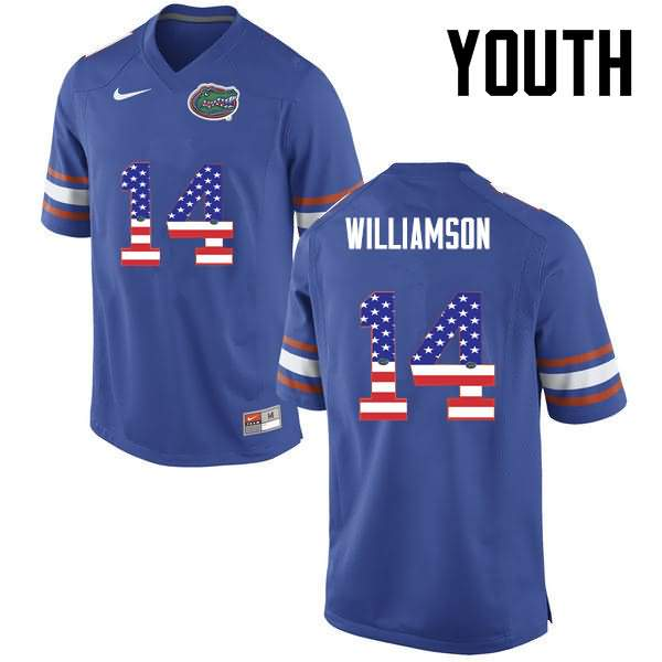 Youth Florida Gators #14 Chris Williamson USA Flag Fashion Nike NCAA College Football Jersey NFR048EJ
