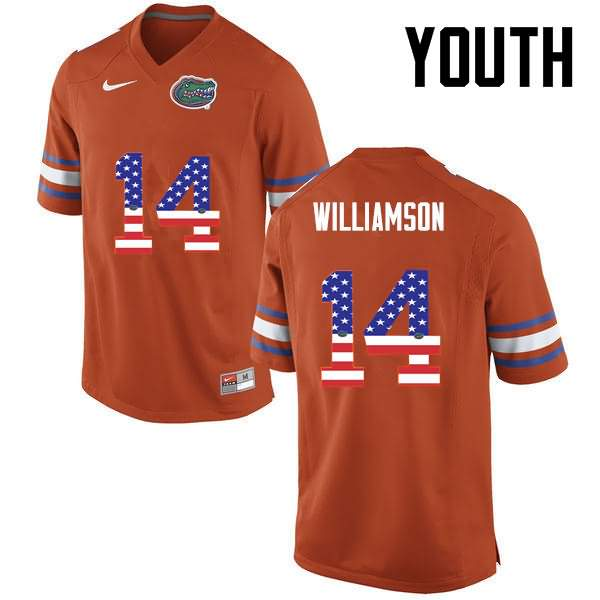 Youth Florida Gators #14 Chris Williamson USA Flag Fashion Nike NCAA College Football Jersey SMF168TJ
