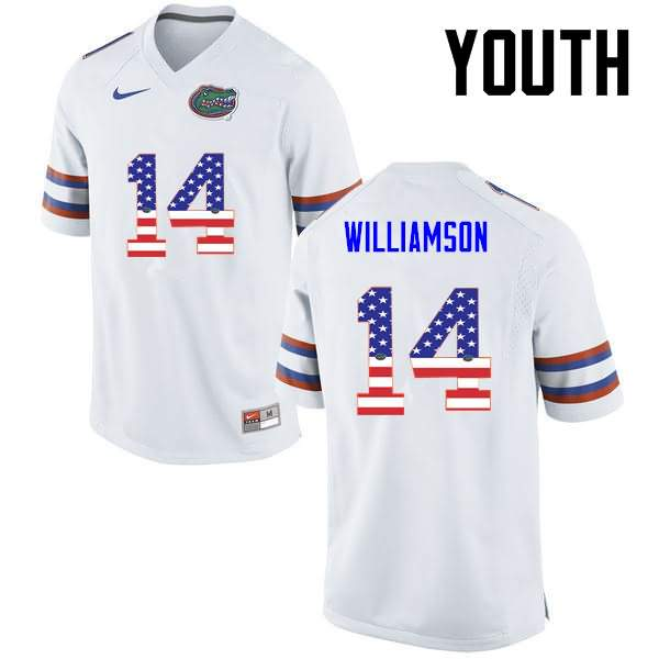 Youth Florida Gators #14 Chris Williamson USA Flag Fashion Nike NCAA College Football Jersey SOB428NJ