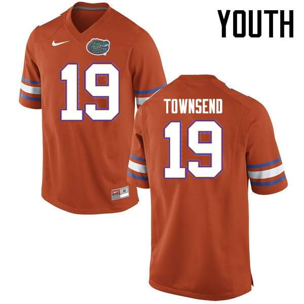 Youth Florida Gators #19 Johnny Townsend Orange Nike NCAA College Football Jersey YZK668YJ