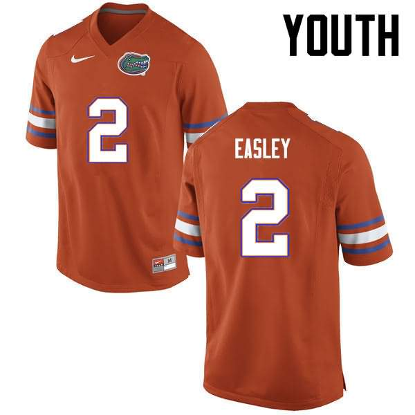 Youth Florida Gators #2 Dominique Easley Orange Nike NCAA College Football Jersey OUT628VJ