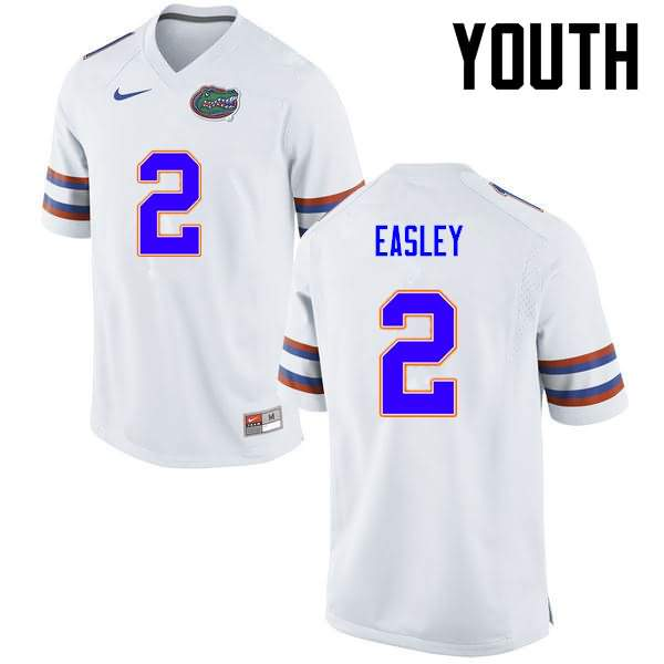 Youth Florida Gators #2 Dominique Easley White Nike NCAA College Football Jersey RJW344EJ