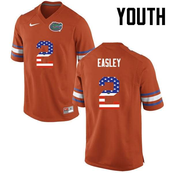 Youth Florida Gators #2 Dominique Easley USA Flag Fashion Nike NCAA College Football Jersey EZZ061JJ