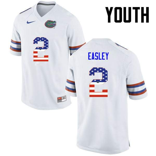 Youth Florida Gators #2 Dominique Easley USA Flag Fashion Nike NCAA College Football Jersey GNB423JJ