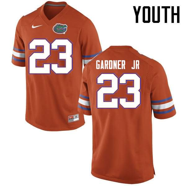 Youth Florida Gators #23 Chauncey Gardner Jr. Orange Nike NCAA College Football Jersey ASX116WJ