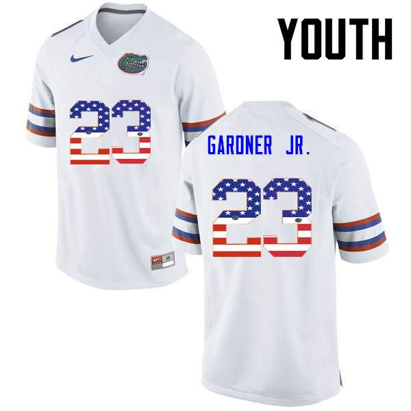 Youth Florida Gators #23 Chauncey Gardner Jr. USA Flag Fashion Nike NCAA College Football Jersey CXJ373KJ