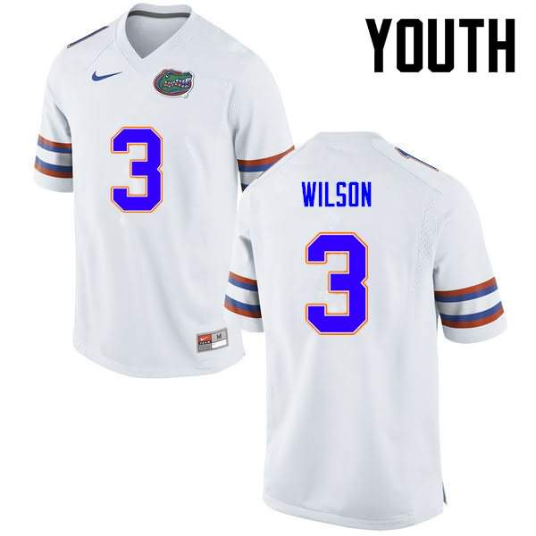 Youth Florida Gators #3 Marco Wilson White Nike NCAA College Football Jersey WKP558WJ