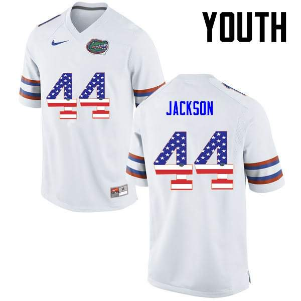 Youth Florida Gators #44 Rayshad Jackson USA Flag Fashion Nike NCAA College Football Jersey SDC645QJ