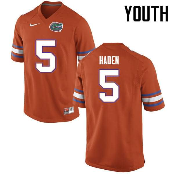 Youth Florida Gators #5 Joe Haden Orange Nike NCAA College Football Jersey TIV460XJ
