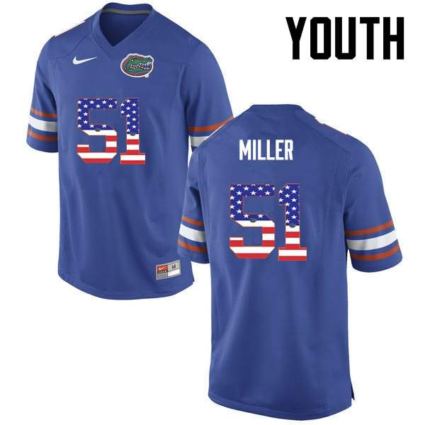 Youth Florida Gators #51 Ventrell Miller USA Flag Fashion Nike NCAA College Football Jersey MHX348JJ
