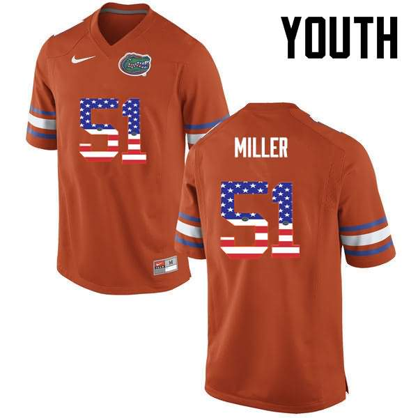 Youth Florida Gators #51 Ventrell Miller USA Flag Fashion Nike NCAA College Football Jersey CQM506QJ