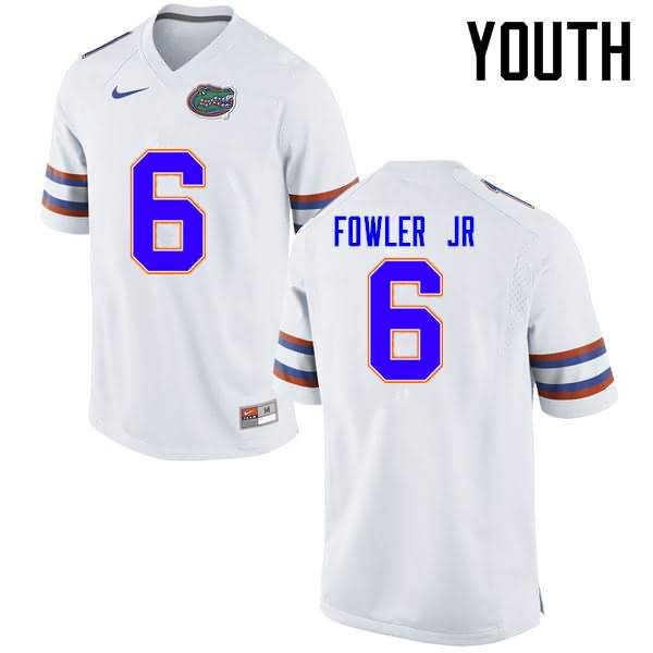 Youth Florida Gators #6 Dante Fowler Jr. White Nike NCAA College Football Jersey JXU454RJ