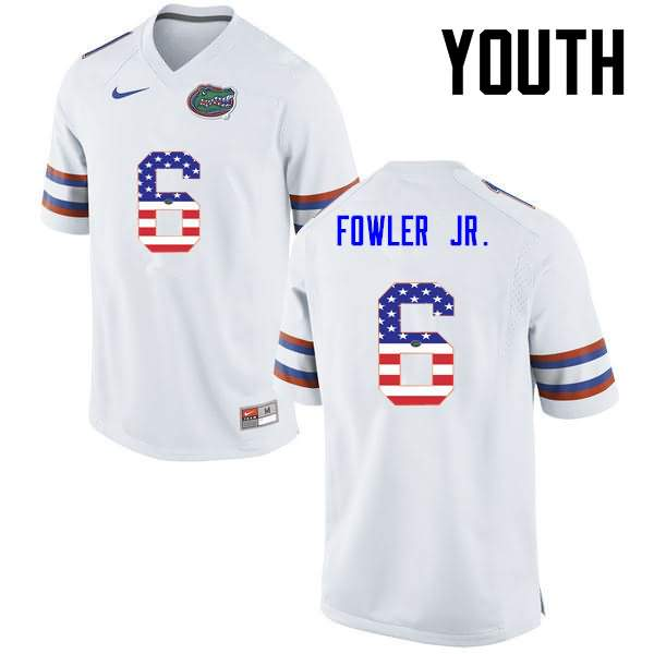 Youth Florida Gators #6 Dante Fowler Jr. USA Flag Fashion Nike NCAA College Football Jersey WMZ345PJ