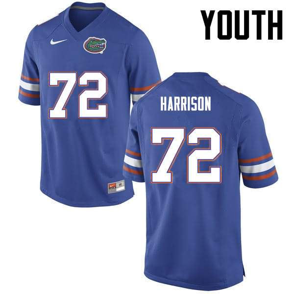 Youth Florida Gators #72 Jonotthan Harrison Blue Nike NCAA College Football Jersey IKF514GJ