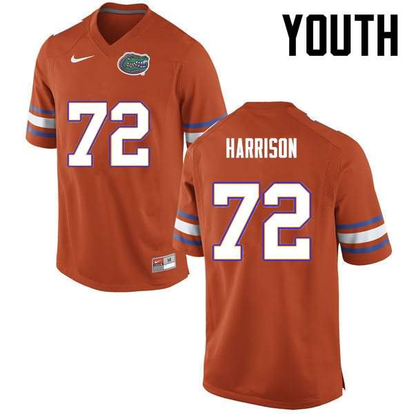 Youth Florida Gators #72 Jonotthan Harrison Orange Nike NCAA College Football Jersey LEK152ZJ