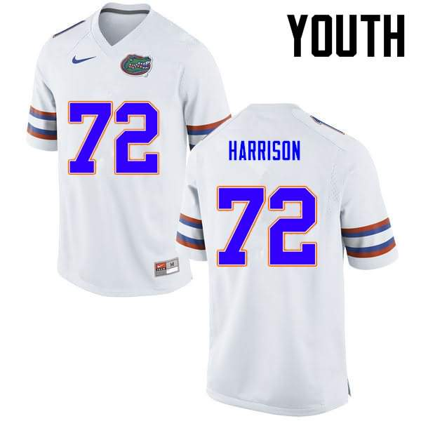 Youth Florida Gators #72 Jonotthan Harrison White Nike NCAA College Football Jersey OKK470XJ