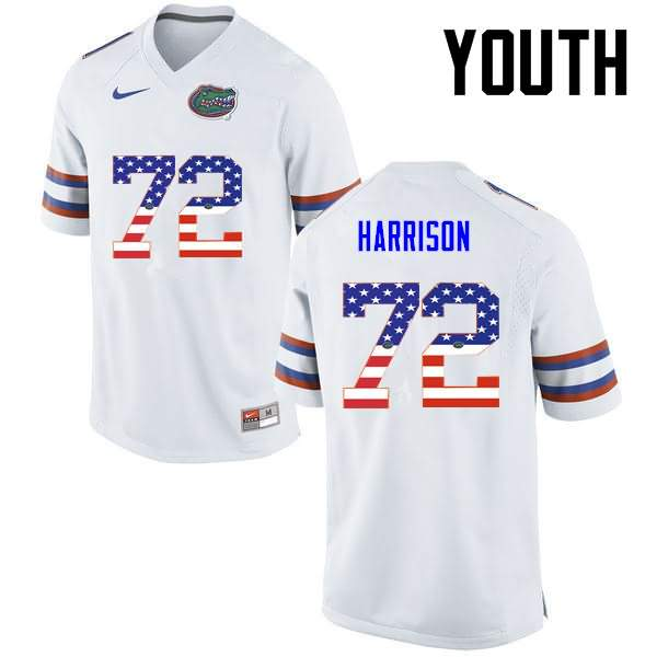 Youth Florida Gators #72 Jonotthan Harrison USA Flag Fashion Nike NCAA College Football Jersey GFO184TJ