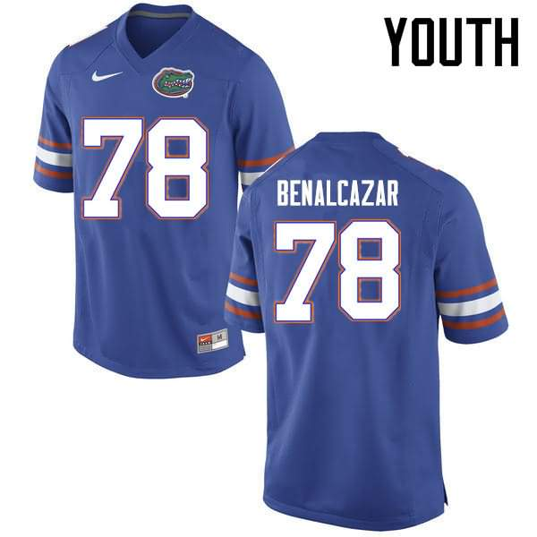 Youth Florida Gators #78 Ricardo Benalcazar Blue Nike NCAA College Football Jersey ZIK036UJ