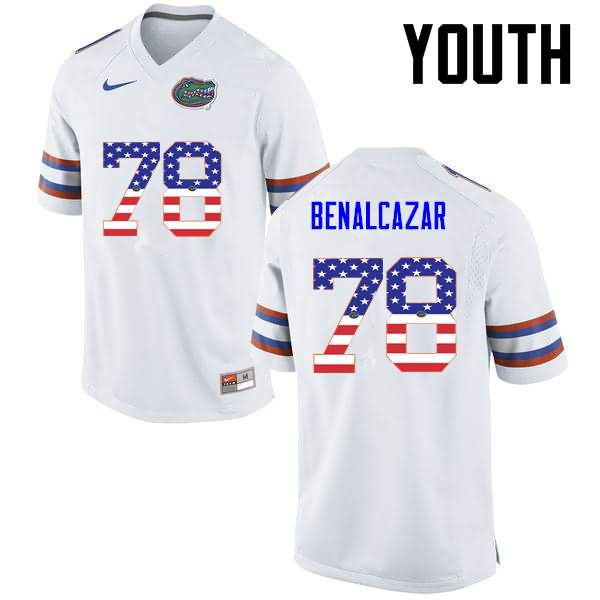 Youth Florida Gators #78 Ricardo Benalcazar USA Flag Fashion Nike NCAA College Football Jersey SFK804TJ