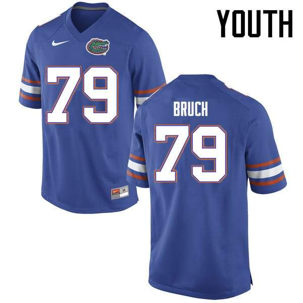 Youth Florida Gators #79 Dallas Bruch Blue Nike NCAA College Football Jersey PUT651RJ