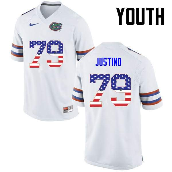 Youth Florida Gators #79 Daniel Justino USA Flag Fashion Nike NCAA College Football Jersey SJL184NJ