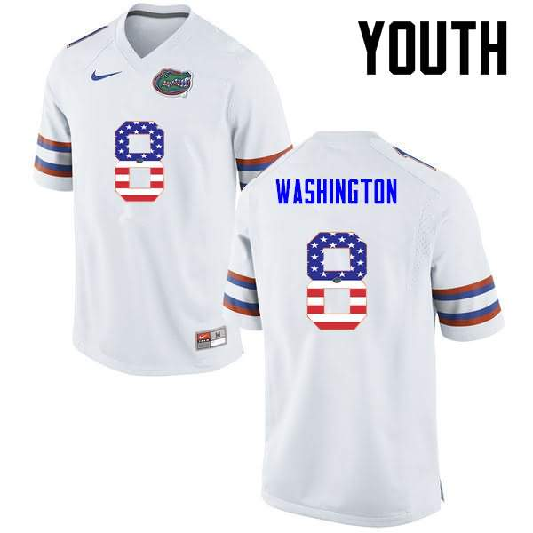 Youth Florida Gators #8 Nick Washington USA Flag Fashion Nike NCAA College Football Jersey NKZ657LJ