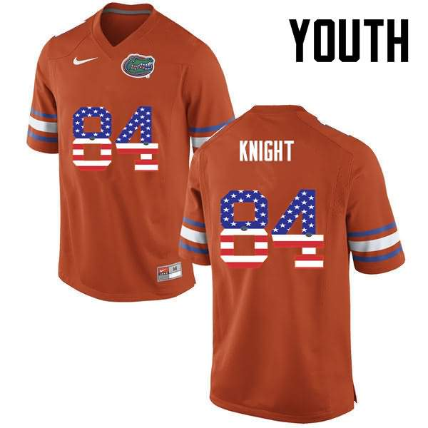 Youth Florida Gators #84 Camrin Knight USA Flag Fashion Nike NCAA College Football Jersey SMW531IJ