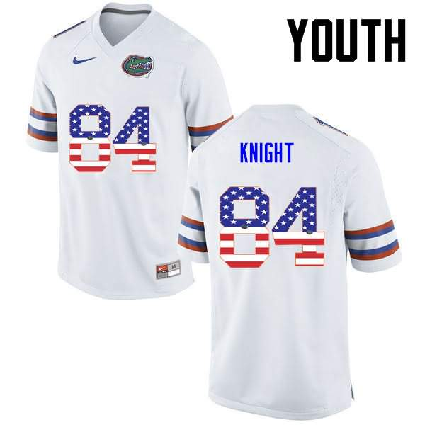 Youth Florida Gators #84 Camrin Knight USA Flag Fashion Nike NCAA College Football Jersey ULP373DJ