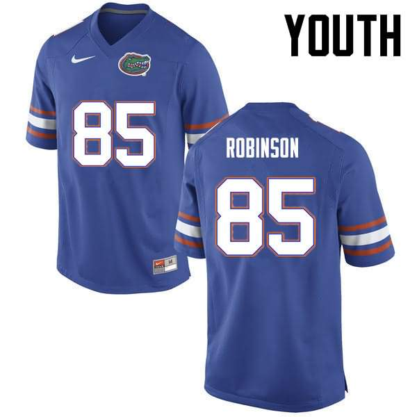 Youth Florida Gators #85 James Robinson Blue Nike NCAA College Football Jersey GDE886NJ