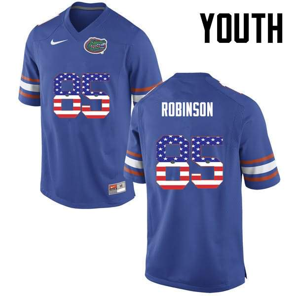 Youth Florida Gators #85 James Robinson USA Flag Fashion Nike NCAA College Football Jersey WTJ202IJ